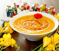 a warming butternut squash soup - boosts the immune system!