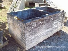 Huge double basin from an old provencal fountain.