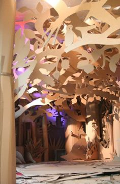 Cardboard forest by Eva Jospin. Cardboard Sculpture, Cardboard Paper, Atelier Creation, Ideias Diy, 3d Studio, Up Book, Recycled Art, Installation Art, Art Lessons