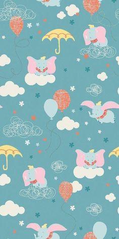 2019 的 disney dumbo clouds flannel fabric cuties disney phone wallpaper. Disney Dumbo, Disney Tsum Tsum, Disney Love, Disney Art, Disney Pixar, Walt Disney, Cartoon Wallpaper, Disney Phone Wallpaper, Baby Wallpaper