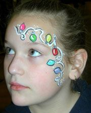 Christmas face paint idea for eye area Ni±as