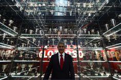 Presidente Luís Filipe Vieira no majestoso Museu Benfica.