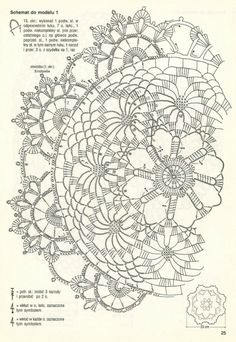 Diagram for Spokes Doily Crochet Tablecloth Pattern, Crochet Doily Diagram, Crochet Motif Patterns, Crochet Chart, Thread Crochet, Filet Crochet, Crochet Designs, Crochet Stitches, Dress Patterns