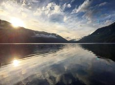 Sunset over Lake Crescent by travis_cano