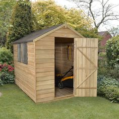 6 x 8 overlap dip treated apex shed gardens garden sheds and sheds