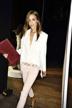 pastel pink pants #SS14 www.blueisinfashionthisyear.com