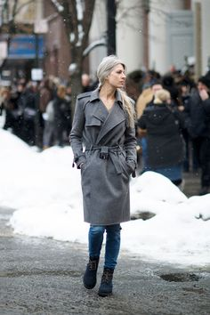 The 15 Best-Dressed People From NYFW, Day 6: Sarah Harris. She always gives us major gray-hair envy.