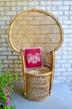 Chair Dolly For Stackable Chairs Info: 1203434064 Wicker Furniture, Repurposed Furniture, Unique Furniture, Vintage Furniture, Patio Chair Cushions, Rattan Chairs, Wicker Peacock Chair, Floor Protectors For Chairs, Mid Century Chair