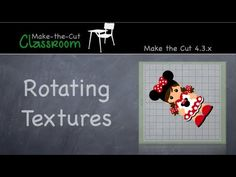 Rotating Textures in Make the Cut Software