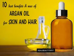 """Argan oil is produced from """"argan nuts"""" and it's used in many beauty products and cosmetics. Argan oil has all the capability to become your go-to beauty elixir from head-to-toe. Diy Beauty Care, Make Beauty, All Things Beauty, Beauty Skin, Health And Beauty, Real Beauty, Beauty Tips, Beauty Secrets, Natural Wrinkle Remedies"""