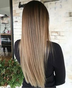 Caramel long hairstyle!