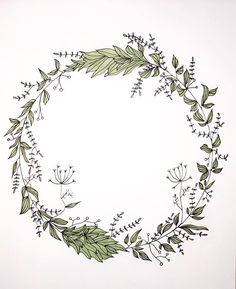 Watercolor Projects, Wreath Watercolor, Watercolor Cards, Flower Circle, Flower Frame, Flower Art, Embroidery Flowers Pattern, Flower Patterns, Circle Drawing