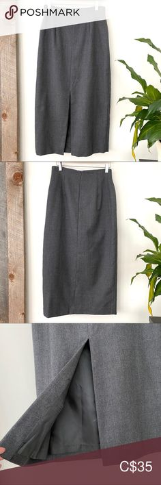 Jones New York 💯 wool midi skirt Jones New York 💯 wool midi skirt Jones New York 💯 wool midi skirt with centre front slit back Plus Fashion, Fashion Tips, Fashion Trends, Winter Looks, Wool Sweaters, Looks Great, Centre, Midi Skirt, Gray Color