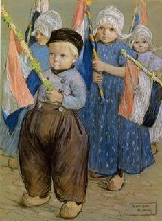 Marcia Oakes Woodbury - Parade of Dutch Children , learning to walk in a parade and the reasons in the culture for the parade.