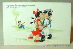 ANTIGUA POSTAL, EDICIONES PABLO DUMMATZEN, MOURO, BAILE, TANGO, SERIE 1013 (Postales - Dibujos y Caricaturas)