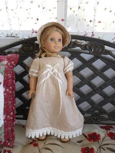 Regency Doll Dress and Bonnet by oldfashiondoll