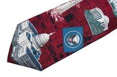 Washington DC Tie Necktie Monument Capitol Building Lincoln Memorial White House #Embassy #NeckTie