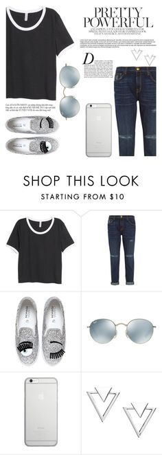 """""""okayyyyyyyy"""" by sweet-jolly-looks ❤ liked on Polyvore featuring H&M, Current/Elliott, Chiara Ferragni, Ray-Ban, Native Union, Anja, Nadri, Summer, Spring and SimpleOutfits"""
