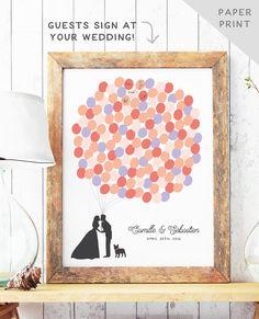 Fun Wedding Guest Book Alternative Balloon by MissDesignBerryInc