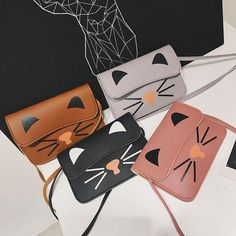Bags Printed Cartoon Cute Cats PU Leather Hasp Solid Messenger Hobos Crossbody Small Cute Flap Bags For Women Girl Shoulder Bags Printed Cartoon Cute Cats PU Leather Hasp Solid Messenger Hobos Crossbody Small Cute Flap Bags For Women Girl Leather Crossbody Bag, Leather Handbags, Pu Leather, Small Shoulder Bag, Printed Bags, Shoulder Handbags, Cute Cartoon, Cross Body Handbags, Cute Cats