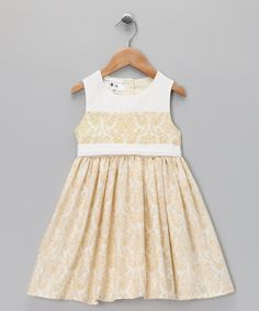 Take a look at this Team Chipmunk Beige Rococo Audrey Dress - Girls by Made in the USA: Kids' Apparel on #zulily today!