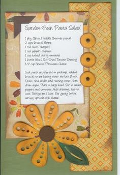 Paper Cottage: Recipe & Page Kit Scrapbook Recipe Book, Scrapbook Page Layouts, Scrapbook Cards, Scrapbooking Ideas, Homemade Recipe Books, Diy Recipe, Making A Cookbook, Cookbook Recipes, Cookbook Ideas
