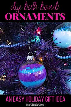 DIY bath bomb ornaments are the perfect holiday gifts. Not only are these fun DIY Christmas ornaments easy to make, they allow you to gift someone special an extra opportunity for self care. What better handmade Christmas gift to give for the holidays, than a relaxing bath time staycation? Learn how to make your own homemade bath bomb ornaments for your friends and family with this simple tutorial for making homemade holiday gifts for Christmas. #bathbombs #christmasornaments #giftideas #diy