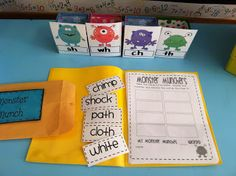 ch, sh, th, wh sorting center - easy quick practice reading and recording consonant digraph activity!