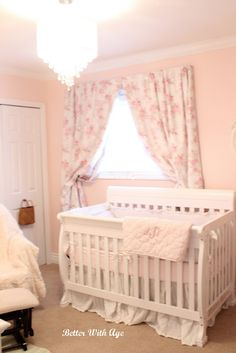 Nursery Room Reveal! by Better With Age www.somuchbetterwithage.com #nursery #baby #girl #pink #DIY #homedecor #interiordesign