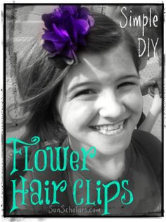 Simple DIY Flower Hair Clips!