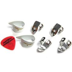 National Finger Picks 4 Finger & 2 Black Thumb Picks Banjo Bluegrass - Medium - http://www.rekomande.com/national-finger-picks-4-finger-2-black-thumb-picks-banjo-bluegrass-medium-2/