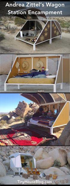 Andrea Zittel's Wagon Station Encampment