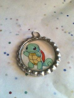 Pokemon Squirtle Bottle Cap Pendant by GeektasticCreations on Etsy, $6.00