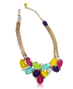 Philippe Ferrandis Candy Color Statement Necklace