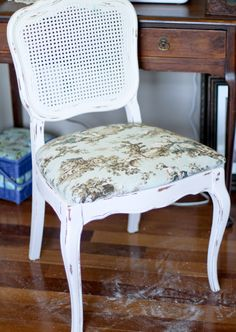 Goodwill Caned Chair Makeover