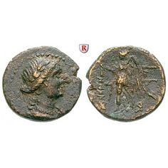 Phönizien, Marathos, Bronze 175-169 v.Chr., ss: Bronze 16 mm 175-169 v.Chr. Drapierte weibliche Büste mit Lorbeerkranz r. / Nike l.… #coins