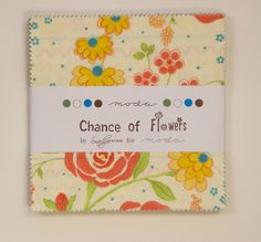 Moda Chance of Flowers Charm Pack Quilt Fabric 42 squares  5""