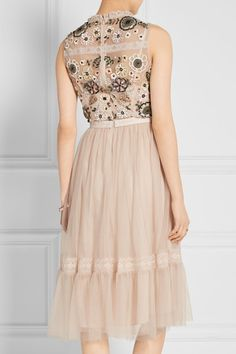 Needle & Thread | Embellished lace-trimmed tulle dress | NET-A-PORTER.COM