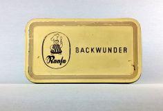 BACKWUNDER BLECHDOSE VON REESE HAMELN ANTIKE DOSE ANTIQUE BOX SHABBY CHIC