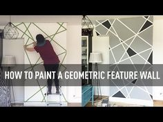 How to paint a geometric feature wall | A Colourful Home - YouTube