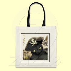 Pirate Kitty Cat Tote Bag by Codifyer / #shopping #holiday #cats #animalportraits - see artist