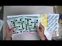 Cloth Paper Scissors -- Gelli JumpStart Journal Demo -- Part 1 -- Gelli Prints for Signatures - YouTube