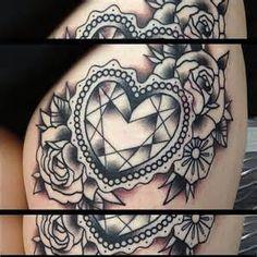 diamond heart tattoo - Bing Images