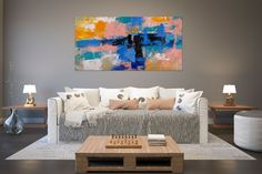 Items similar to Large Painting on Canvas,Original Painting on Canvas,modern wall canvas,abstract originals,huge canvas painting on Etsy Large Abstract Wall Art, Large Canvas Art, Large Wall Art, Large Painting, Texture Painting, Painting Art, Texture Art, Art Paintings, Large Art