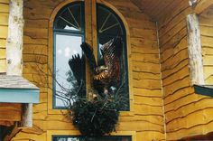 Eagle & Nest Above Entry Door. Picture Creator, Eagle Nest, Wisconsin Dells, Chainsaw Carvings, Entry Doors, Eagles, Statues, Wood, Pictures