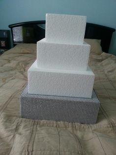 DIY fake teir cake stand...makes the cake stand taller