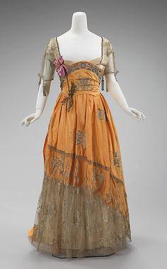 Evening Dress #1910 #1911 #1912 #1913 #1914 #1900s #French #VBT