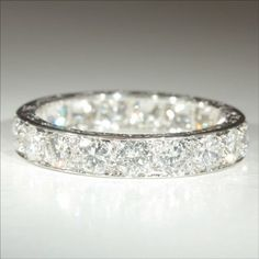 Vintage French Retro Diamond Eternity Ring - Wedding look