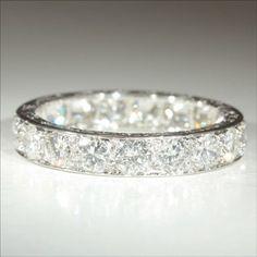 Vintage French Retro Diamond Eternity Ring - Wedding look
