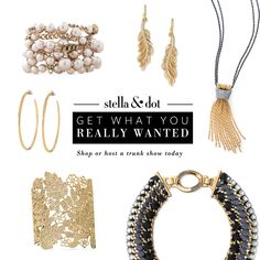 Contact me to host a trunk show or shop online at www.stelladot.com/nadiaferrante